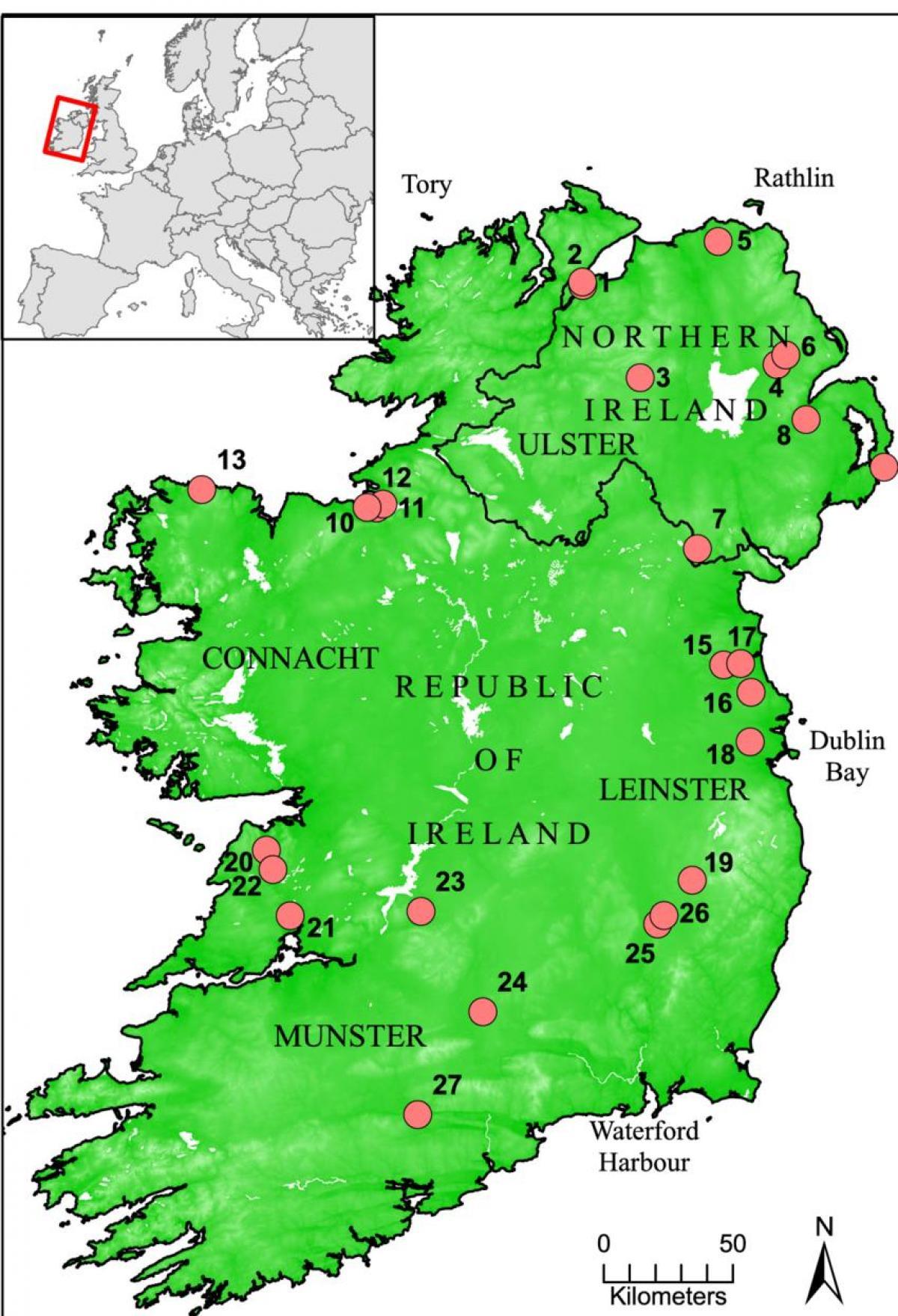 Irland Karte.Rivers Of Ireland Map Karte Von Irland Die Flusse