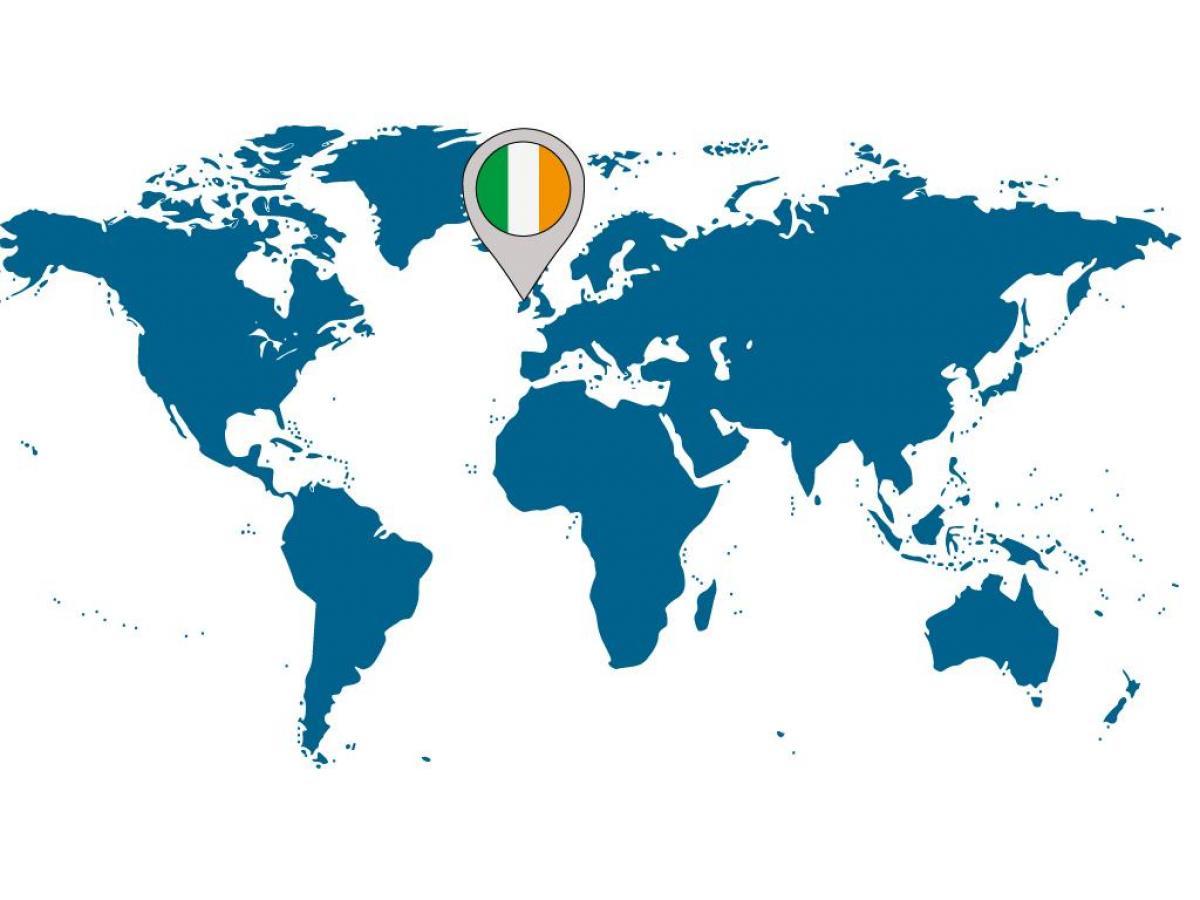 Irland Lage Auf Weltkarte Irland Auf Der Karte Der Welt