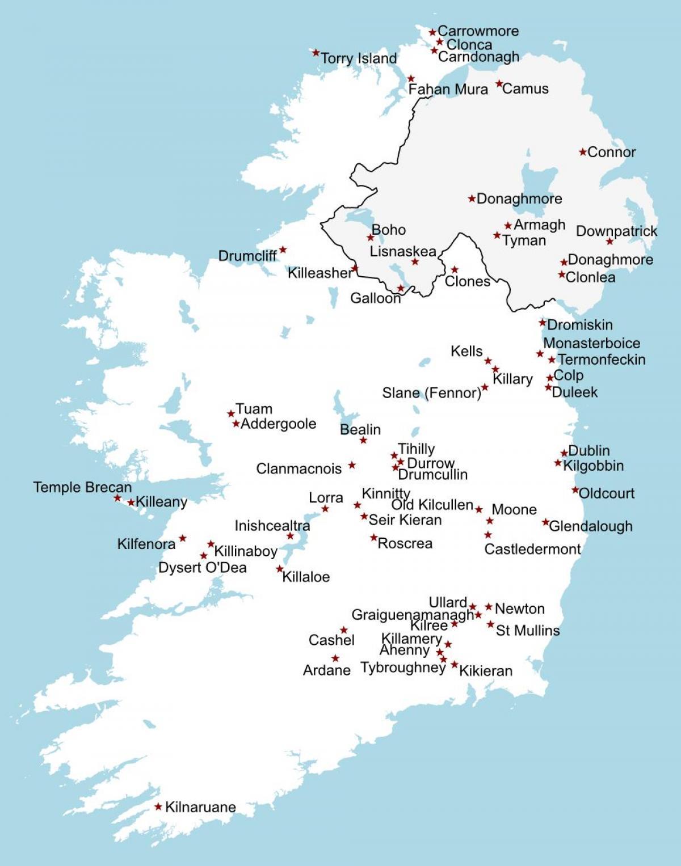 sightseeing irland karte Muss Irland siehe Karte   Irland sightseeing Karte (Europa Nord